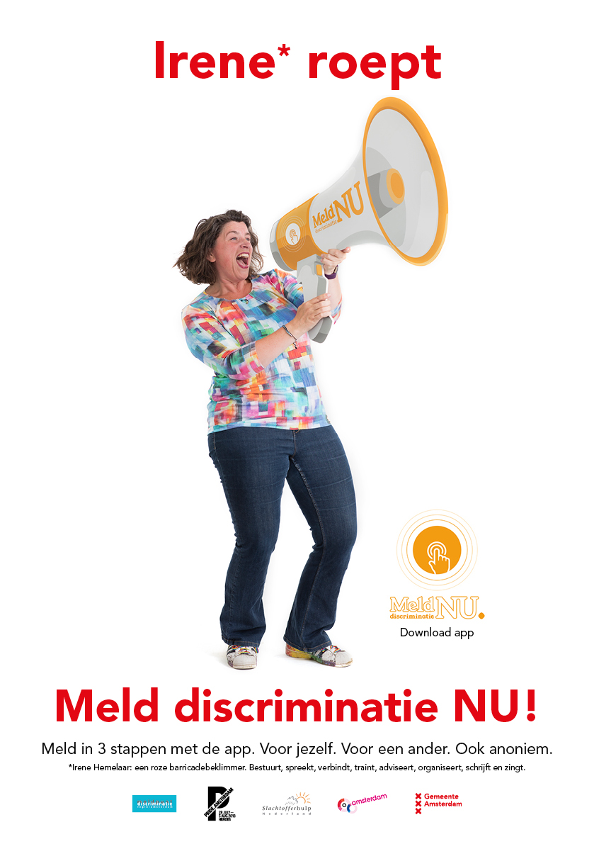 MeldDiscriminatie_poster_Irene