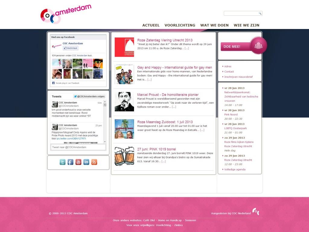 Nieuwe Website COC Amsterdam