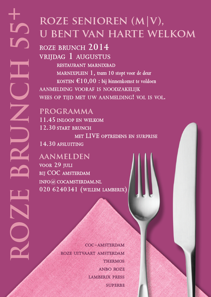 Roze Brunch 1 Augustus 2014