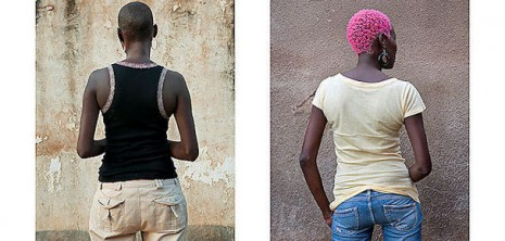 """""""Homosexuality is illegal in Uganda. Publicly identifying as gay or being identified as such can result in the loss of a job, arrest, harassment, blackmail, threats, and beatings. Anti-gay sentiment is widespread and outings in tabloid papers are common. In October 2009 the Anti-Homosexuality Bill was introduced in the previous Ugandan parliament. Under the guise of protecting family values, it proposed life imprisonment for anyone engaged in homosexual activities and the death penalty for """"aggravated homosexuality"""" (some of the offenses are homosexual activity with a person under 18 years old or if the offender is HIV positive). Additionally, the Bill prohibited any production and dissemination of information related to homosexuality and prescribed jail time for anyone (including friends, parents, doctors, priests) that fails to report homosexual activity to the authorities. The Bill was met with opposition from human rights groups, western governments, some religious leaders and even Ugandan president Yoweri Museveni has distanced himself from the Bill. The previous parliament didn't pass the Bill, but it was reintroduced in the new parliament in late 2012 and awaits debate. The proponents claim the death penalty has been removed from the Bill, and the focus is now on punishing promotion and recruitment into homosexuality. Still, the new wording of the Bill has remained secret. I started the series of portraits and interviews with LGBTI activists in early 2010 with the aim to give voice, if not face, to the members of the gay community. In the interviews they express their views of the Bill, of homosexuality in African society and Uganda, and they tell their personal stories of struggle and threats and also their hopes for the future. Due to the precarious situation, they did not want to be identified and they were photographed from behind. In 2013 I revisited the same people. In three years, as a reaction to the draconian Bill and to continued outings, they have """